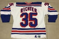 Vintage MIKE RICHTER #35 New York Rangers Sz XL Starter Jersey NHL white hockey