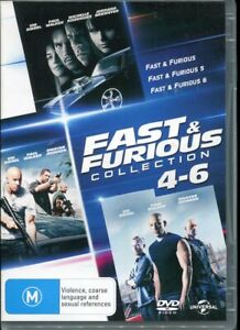 The Fast and the Furious Collection 4-6 Four to Six DVD NEW Region 4