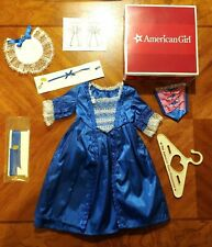 American Girl Doll Felicity's 2010 Blue Holiday Outfit Dress Outfit w/ Box EUC!
