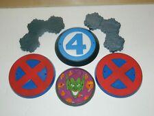Marvel Legends Lot Figure Display / Stand Bases: X-Men, Fantastic 4 Green Goblin