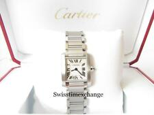 CARTIER TANK FRANCAISE LADIES W51008Q3 STAINLESS STEEL CARTIER  BOX !!!