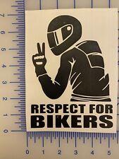 Respect For Bikers | vinyl decal sticker