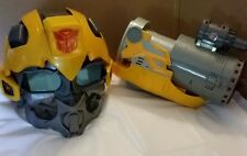 2008 Transformers BumbleBee voice changing mask helmet & Plasma Cannon arm gun