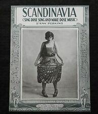 """1921 """"Scandinavia"""" Ray Perkins Sheet Music Norway Finland Sweden Anna Chandler"""