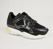 $890 Fendi Women's Black Leather/Rubber/Mesh Platform Sneaker 39 8E6791 F13TN