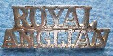 Badge- ROYAL ANGLIAN Shoulder Title Badge - ROYAL ANGLIAN Title (BRASS)