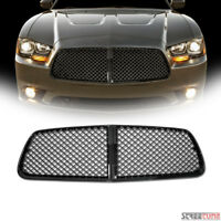 For 11-14 Dodge Charger Black Honeycomb Mesh Front Hood Bumper Grill Grille ABS