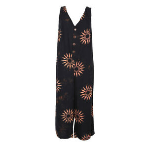 Batik Sun Pattern Jumpsuit