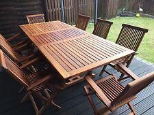 Garten-Garnituren & -Sitzgruppen aus Teak mit bis zu 8 Sitzplätzen ...