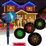 Laser Projector Light Show Moving R&G Outdoor Garden Xmas Party House Landscape