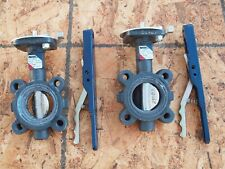 Pair of Nibco LD 3010-3 250PSI Lug Style Butterfly Valves Ductile Iron EPDM Seat