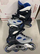 Salomon Carbon Energyzer Roller Skating Inline Skates US Mens Size 9 Blue/Grey