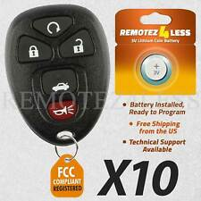 Lot of 10 New Replacement Keyless Entry Remote Key Car Fob for 22733524