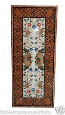 """30""""x60"""" Marble Dining Table Top Precious Mosaic Inlay Marquetry Furniture Decor"""