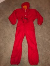 Vintage Obermeyer Juniors One Piece Hooded Snow Ski Suit Red Size 18 Rare