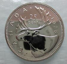 1978 CANADA 25 CENTS SPECIMEN QUARTER COIN - A