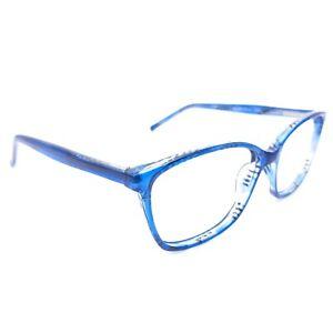 Elements Europa EL-200 C3 Clear Blue Eyeglasses Frame Full Rim Eyewear J7-15