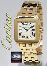 Cartier Santos Demoiselle 18k Yellow Gold Ladies Quartz Watch Box/Papers 2702