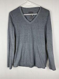 Adidas AEROKNIT Climacool Juniors Gray Long Sleeve V-Neck Polka Dot Top Shirt L+