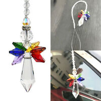 Handmade Rainbow Crystal Guardian Angel Chakra Suncatcher Car Charm Key Pendant