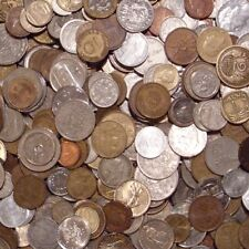 One Pound of Mixed Foreign Coins from Around the World