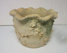 Evans Pottery Dexter Missouri Textured Pinch Clay Planter Flower Pot
