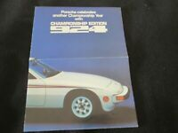 1977 1978 Porsche 924 Championship Edition Brochure Champion US Sales Catalogue
