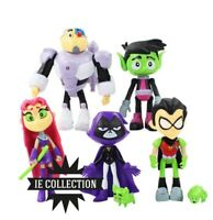 TEEN TITANS GO! SET 7 FIGURE STATUETTE Raven Starfire Robin Beast Boy Cyborg