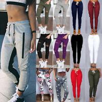 Womens Casual Sweatpants Joggers Dance Harem Pants Sports Elastic Waist Trousers