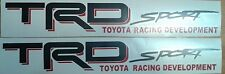 TRD sport, toyota tacoma tundra decal Sticker red and black matt (set)