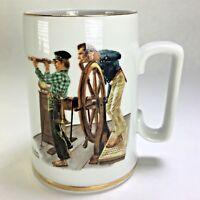 NORMAN ROCKWELL Museum River Pilot Seafaring Coffee Mug 1985