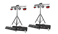 2 x Chauvet Dj GigBar 2 Derby Par Strobe Uv Effect Light Fixture New