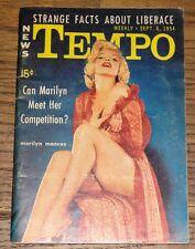 MARILYN MONROE AUTHENTIC ORIGINAL VERY RARE USA TEMPO MAGAZINE SEPTEMBER 1954