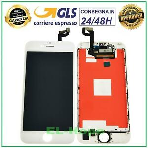 DISPLAY LCD RETINA APPLE IPHONE 6S TOUCH SCREEN SCHERMO VETRO BIANCO TIANMA