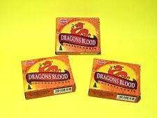 3 boites d'encens Sang de Dragon en cônes - Protection, neutralisation des ondes