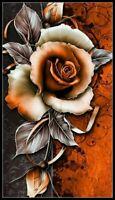 Decorative Flower - DIY DMC Chart Counted Cross Stitch Patterns Needlework