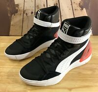 Kuzma [19404204] Puma Sky Modern Black Red High Basketball Shoes Men's ALL SIZE