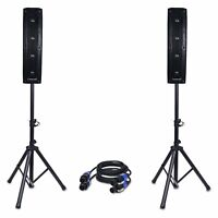 "Sound Town Column Speaker Set: Two 4*4"" Column Speakers, Stands, Cables CARPO-V4"