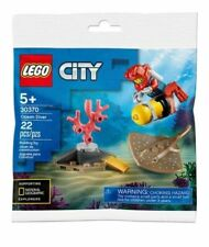 Lego City Ocean Diver Polybag Set 30370 with NEW SPOTTED RAY! 2020