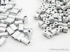 """100 Ferrule Stop Rope Cable +100 Wire End Snare Swage Sleeve Trap Barrel  1/16"""""""