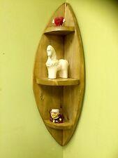 Chunky Wooden Rustic Oak Vintage HANDMADE CORNER SHELF UNIT Floating Shelf