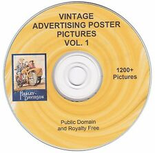 Vintage Advertising Poster Images! - Volume 1 - 1200+  images on CD