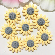 8pcs Sunflower 22mm Yellow Resin Flatback Cabochon ScrapbookIng for phone/craft