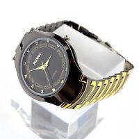 1* NEU Herren Edelstahl Band Sport-Quarz-analoge Armbanduhr Watches~
