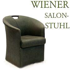 Jugendstil Sessel Salonstuhl neuzeitlicher Stuhl im Antikstil grün Ledergriff