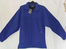 New Mens Pegasus Fleece Jacket Coat Blue Zip Fastening Warm Medium
