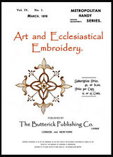 Butterick Art & Ecclesiastical Embroidery c.1898 Huge Book of Beautiful Designs