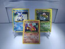 New listing Wartortle, Charmeleon, Ivysaur Base Set 2 Mint Psa9-10? Pokemon Cards