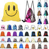 School Drawstring Bags PE Gym Swim Dance Sport Unisex Boys Girls Backpack Lot