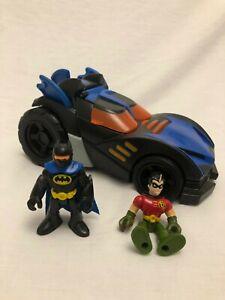 Batman Imaginext Motorised Batmobile with Batman and Robin Figures
